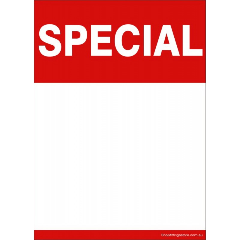 """""""SPECIAL"""" - Sign card A5 or A4 Writable and Reusable -5 Pack"""