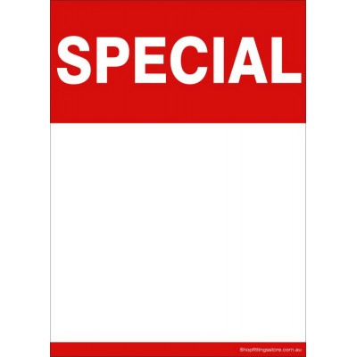 """SPECIAL"" - Sign card A5 or A4 Writable and Reusable -5 Pack"