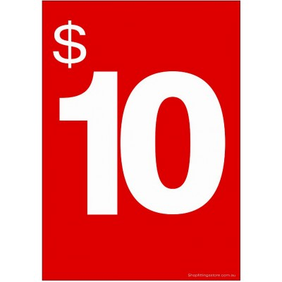 """$10"" - Sign Cards - 5 Pack"