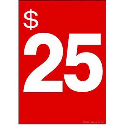 """$25"" - Sign Cards - 5 Pack"