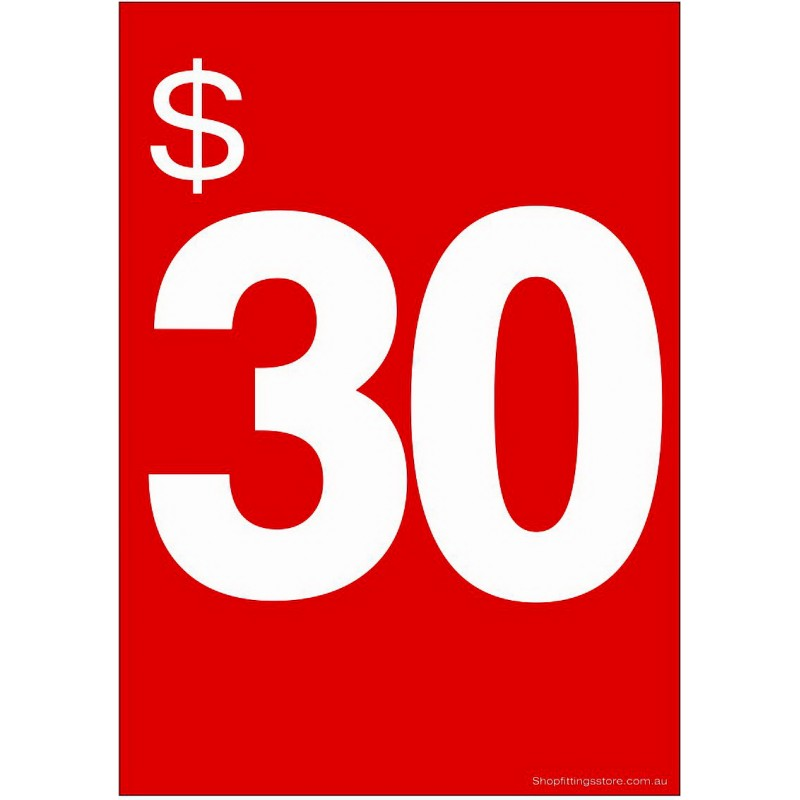 """""""$30"""" - Sign Cards - 5 Pack"""