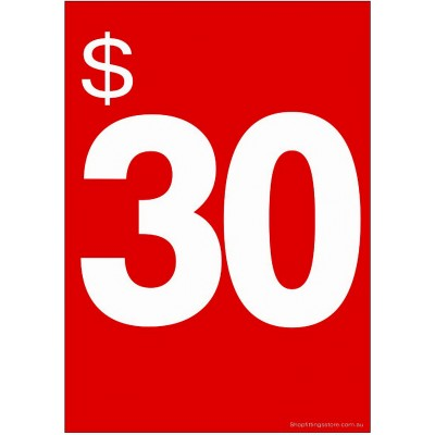 """$30"" - Sign Cards - 5 Pack"