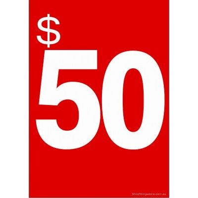"""$50"" - Sign Cards - 5 Pack"