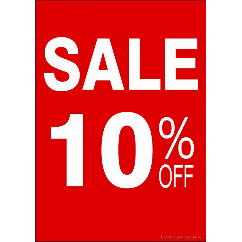 """""""SALE 10% OFF"""" - Sign Cards - 5 Pack"""