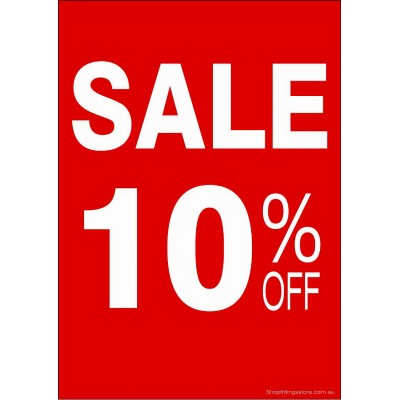 """SALE 10% OFF"" - Sign Cards - 5 Pack"