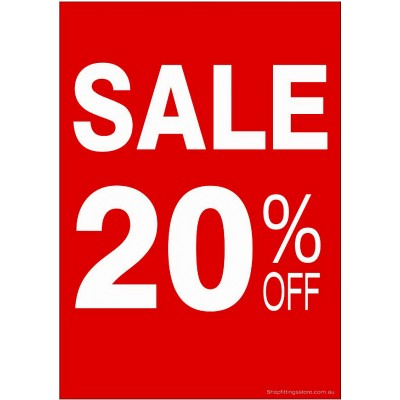 """SALE 20% OFF"" - Sign Cards - 5 Pack"