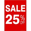 """""""SALE 25% OFF"""" - Sign Cards - 5 Pack"""