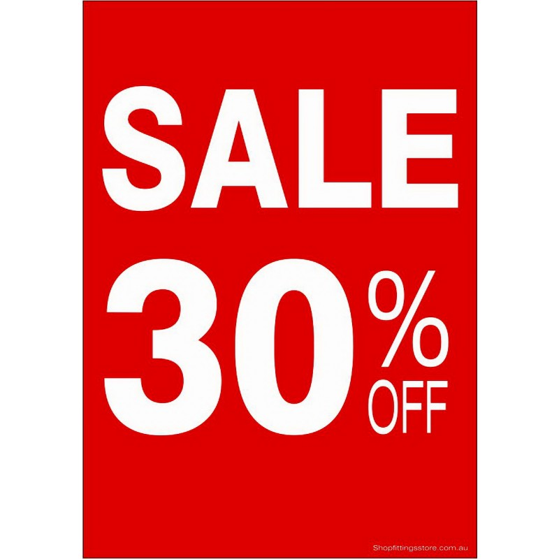"""""""SALE 30% OFF"""" - Sign Cards - 5 Pack"""
