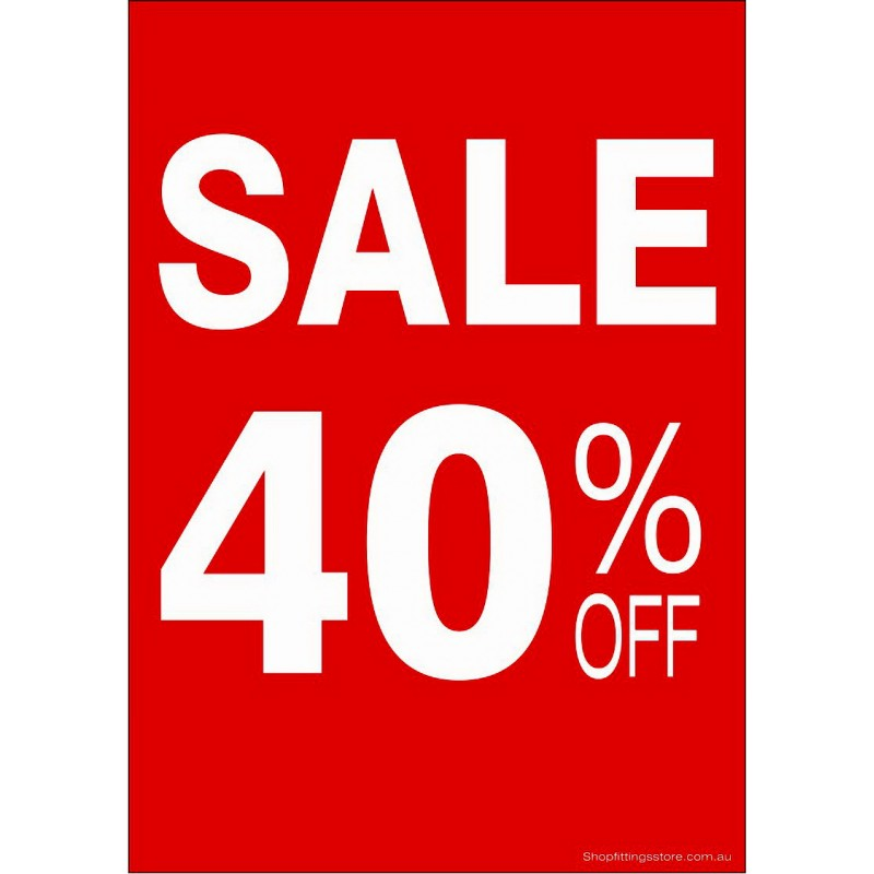 """""""SALE 40% OFF"""" - Sign Cards - 5 Pack"""