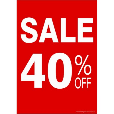 """SALE 40% OFF"" - Sign Cards - 5 Pack"