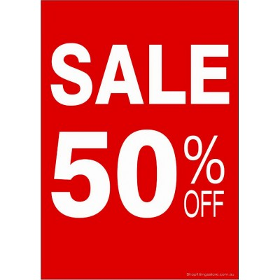 """SALE 50% OFF"" - Sign Cards - 5 Pack"