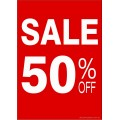 """""""SALE 50% OFF"""" - Sign Cards - 5 Pack"""
