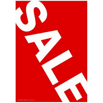 """SALE"" Angled - Sign Cards A4 - 5 Pack"