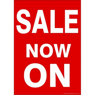"""SALE NOW ON"" - Sign Cards A4 - 5 Pack"