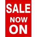 """""""SALE NOW ON"""" - Sign Cards A4 - 5 Pack"""
