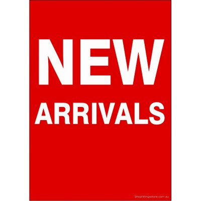 """NEW ARRIVALS"" - Sign Cards - 5 Pack"