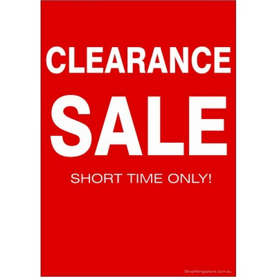 picture relating to Free Printable Sale Signs for Retail named CLEARANCE SALE - Signal Playing cards A4 - 5 Pack