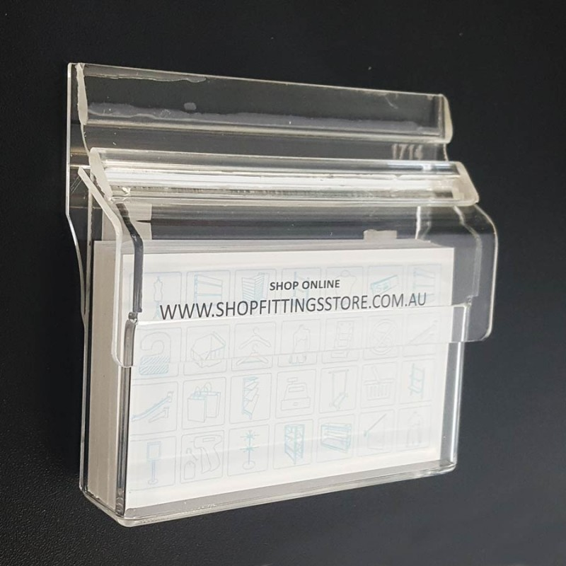 Outdoor Hinged Wall Business Card Holder