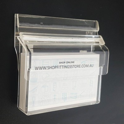 Business card holders shopfittings store outdoor hinged wall business card holder reheart Gallery