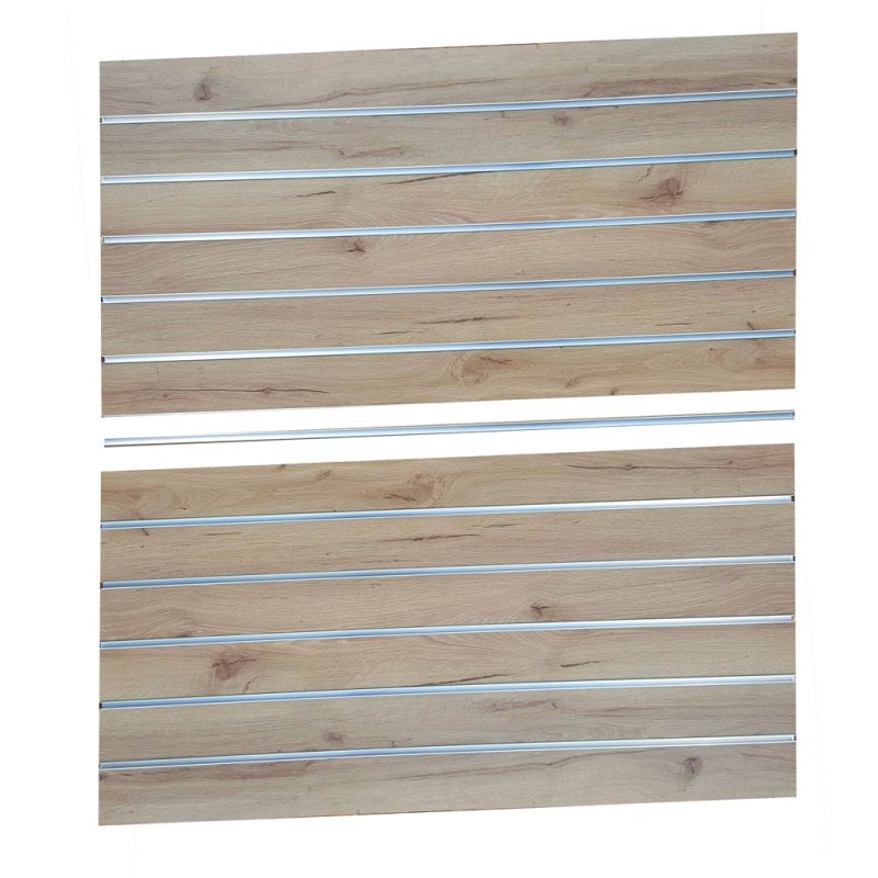 Slat Panel1200x600 Silver Oak, PAIR