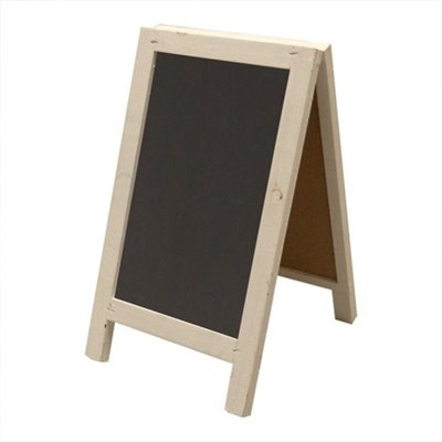 Small Wooden A-Frame Black board