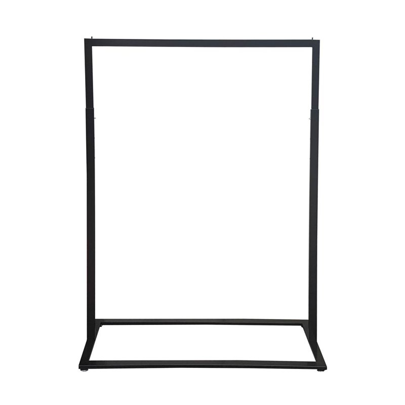 Boutique Slim Rack with Square Base Black