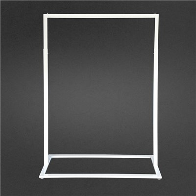 Boutique Slim Rack with Square Base White
