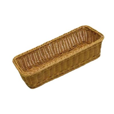 Grocery Display Rectangular Wicker Basket Narrow