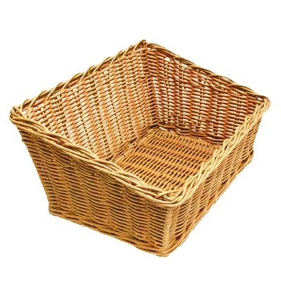 Grocery Display Wicker Basket Slant Large