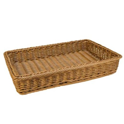 Grocery Display Rectangular Wicker Basket Large