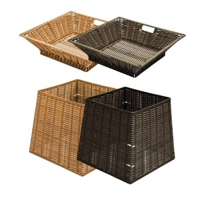 Polywicker Square Basket Display