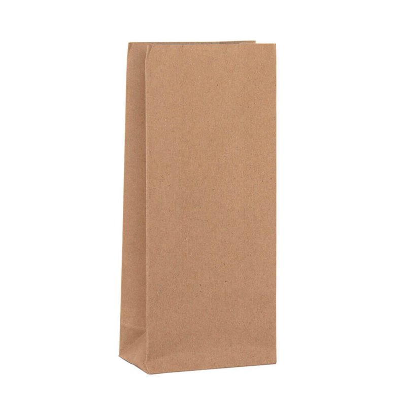 Grocery brown paper bag Size 1 90 x 210mm no handles (pack 500)