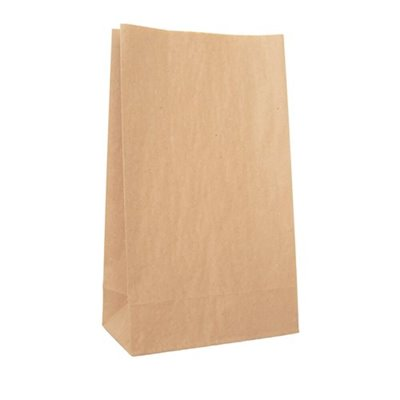Grocery brown paper bag 3 160 x 300mm no handles (pack 500)