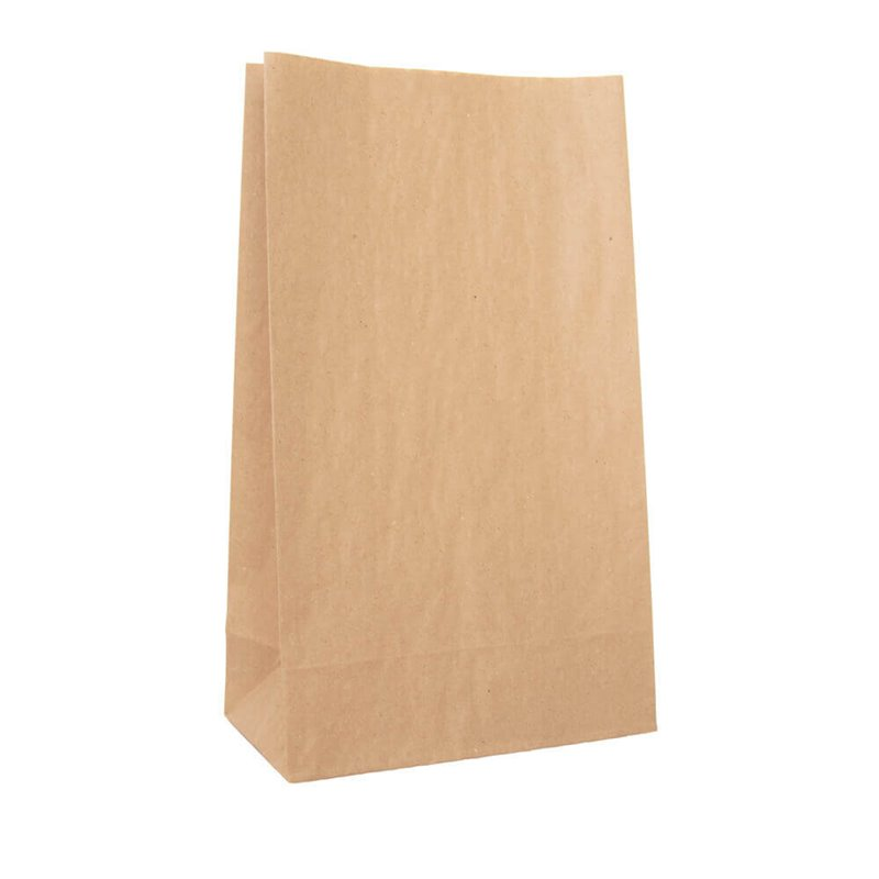 Grocery brown paper bag 4 240 x 390mm no handles (pack 500)