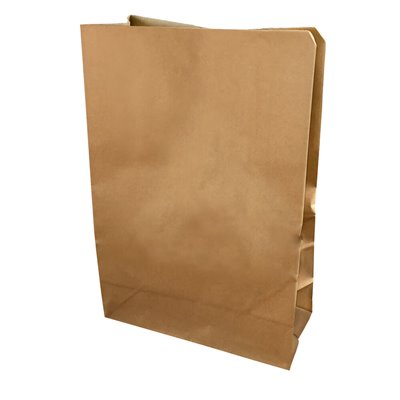 Grocery brown paper bag 25 540X360+165mm no handles (pack 100)