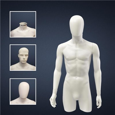 FASHION Male Torso SD8 with Hands White - No Finish