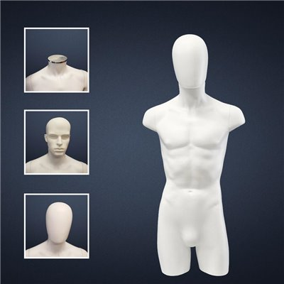 FASHION Male Torso SD9 NO Hands White - No Finish