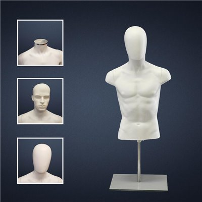 FASHION Male Torso EHMT2 NO Hands White - No Finish