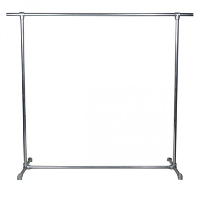 Industrial Single Clothes Rack Model 2 Galvanised