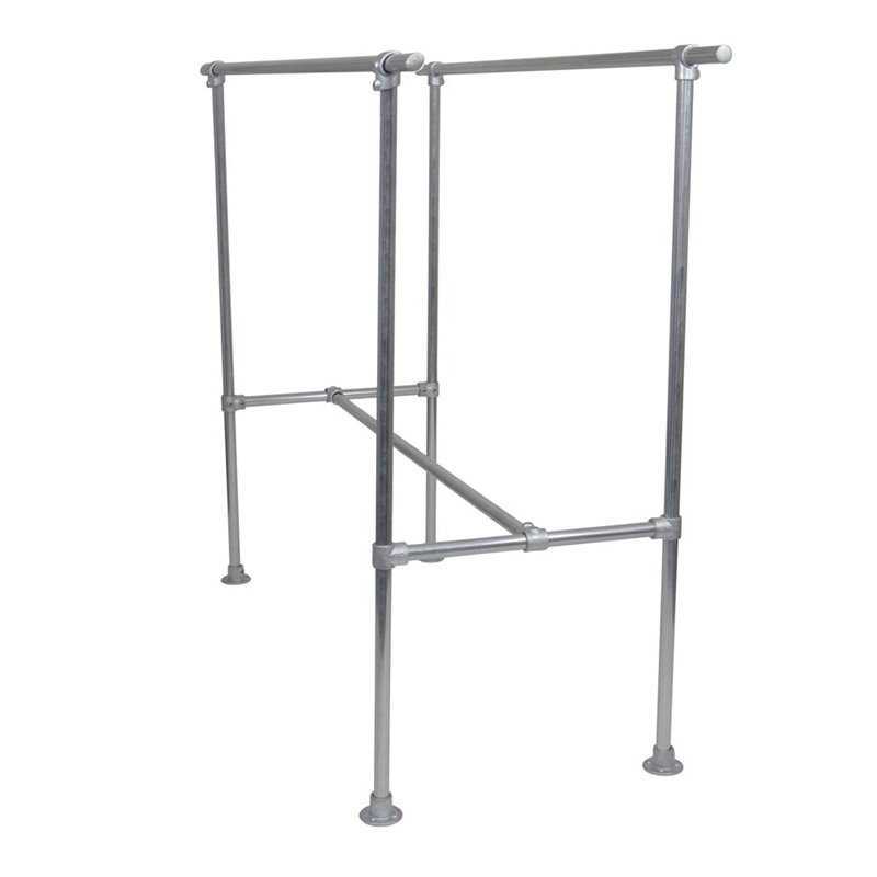 Industrial Double Clothes Rack Model 2 Galvanised