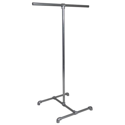 Industrial 2 Way Clothes Rack Galvanised