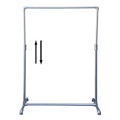 Industrial Single Clothes Rack Adjustable Galvanised
