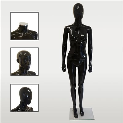 FASHION Female Mannequin SF6 - Black Gloss