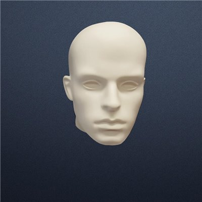 FASHION Head G2 Display Mannequin Male Plastic WHITE