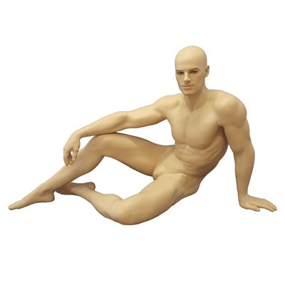 Realistic Sitting Male Mannequin Skin MM415