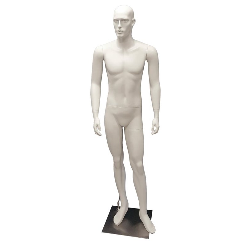 Male Abstract Mannequin MM101W White