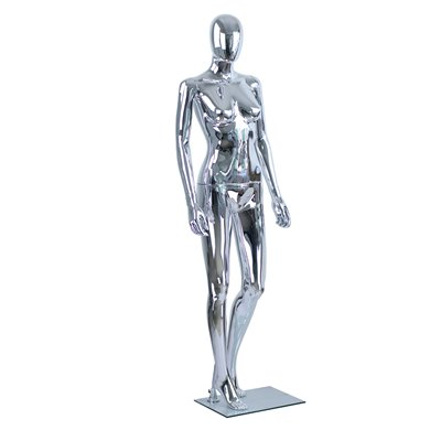 Female Abstract Mannequin CD2 Plastic CHROME