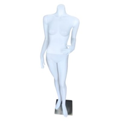 Female Abstract Budget Mannequin FM2 Headless White