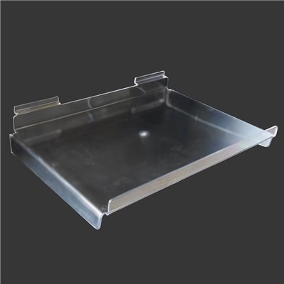 Slat Wall Plastic Shelf 400x280x100mm with lip