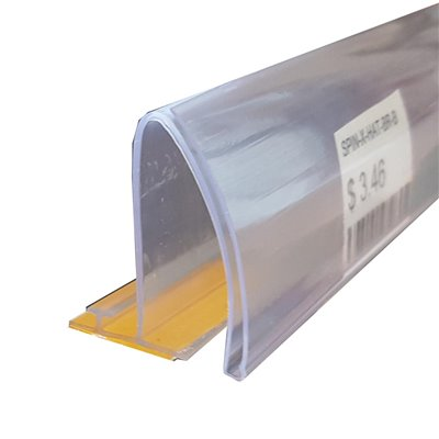 T Rails with Adhesive and Curved Data Strip for Shelving Dividers
